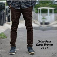 Katalog Celana Cino Pants Panjang Pria Chino Coklat Terbaru