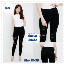 Celana Clarissa Legging Jeans Silet Pant Hitam 168 Collection Diskon
