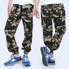 Celana Cowok Gaya Keren Joger Pant Loreng Army / Celana Distro Garsel