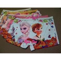 Celana Dalam Boxer Anak Perempuan Frozen Elsa & Anna - 3pcs