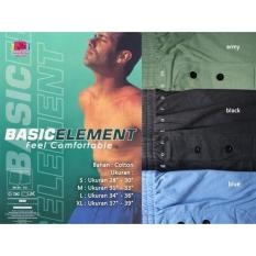 Celana Dalam Boxer Pria Laki Element Basic Katun Ukuran Size S M L Xl - Mqaukt