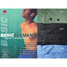 Celana Dalam Boxer Pria Laki Element Basic Katun Ukuran Size S M L Xl - Qzvgfm