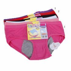 Celana Dalam Wanita Menstruasi, CD G String Thong, Pants anti Tembus 1 set 5pcs ukuran Dewasa (multi warna)
