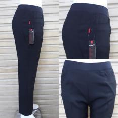 celana formal/kerja wanita PINGGANG KARET bahan grasela strecth/melar reguler bagus murah