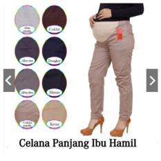 Celana Hamil Panjang 4-9 Bulan Celana Kerja Wanita Ibu Hamil Bahan Katun Stretch