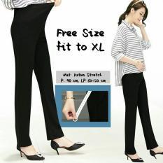 Celana Hamil Wanita Katun Stretch High Quality / Celana Karet Ulur / Celana Panjang / Pregnant Pants