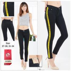 Toko Jhf Celana Jeans Ripped Hitam List Kuning Dki Jakarta