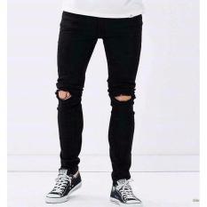 KAKI 5 CLOTH _ Celana Jeans Pria Sobek Lutut