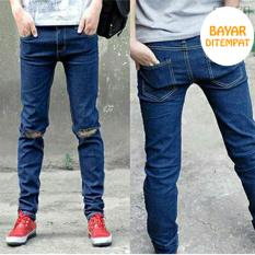 Harga Celana Jeans Biru Ripped Casual Pria Best Seller Dan Spesifikasinya