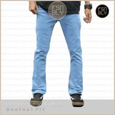 Review Celana Jeans Bootcut Cutbray Pria Biru Muda Premium Quality No Brand