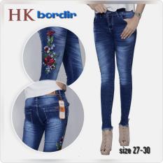Perbandingan Harga Celana Jeans Celana Wanita Motif Bunga Biru Tua Di Jawa Barat