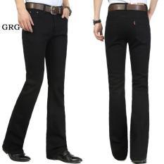 Jual Celana Jeans Denin Pria Panjang Exlusive Bootcut Flare Cutbray Black Poptastic Murah