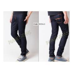 Celana Jeans / dry denim NUDlE Model Skinny / Pensil Cowok / Pria - 02