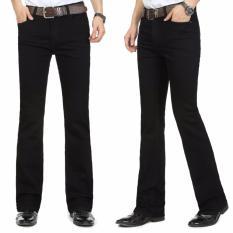 Celana jeans Flare/Cutbray Hitam
