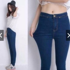 celana jeans highwaist navy 30