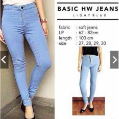 Dapatkan Segera Celana Jeans Highwaits Puny Light Blue Size 28