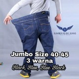 Jual Celana Jeans Jumbo Panjang Pria Big Size 40 41 42 43 44 45 Warna Biru Tua Blue Black Model Standard Reguler Fit Texan Exclusive Jeans Murah