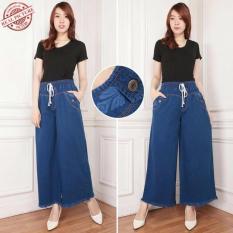 Harga Celana Jeans Kulot Panjang Wanita Jumbo Long Pant Cenny Warior Colection Terbaik
