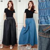 Beli Celana Jeans Kulot Panjang Wanita Jumbo Long Pant Jayden Hitam Kredit