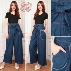 Harga Celana Jeans Kulot Panjang Wanita Jumbo Long Pant Meysita Warior Colection Baru