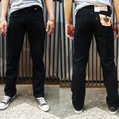 Celana Jeans Lvs Regular Fit Standard Pria - Hitam