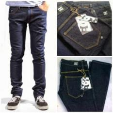 Celana Jeans panjang  Pria model skiny DC Blue Black