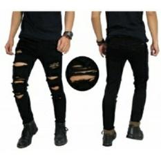 Celana Jeans Panjang Robek Pria/Cowok