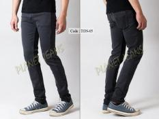 Celana Jeans Panjang Skinny Fit Pria Abu Tua /  Denim Cowok Skiny Pensil Blue Washed  TON05