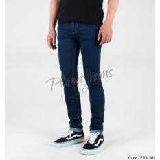 Celana Jeans Panjang Skinny Pria - Denim Super Slimfit Pensil Cowok Skiny PUM40 Go ShoppingNow