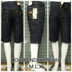 Celana Jeans Pendek Pria Lois Size S M L Xl Melar - 56Ada6