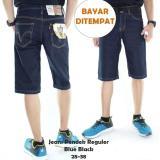 Toko Celana Jeans Pendek Standar Pria Dark Blue Mco Clothing Indonesia