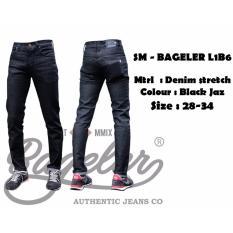 Spesifikasi Celana Jeans Pria Jeans Skinny Fit Pria Black Jaz Dan Harganya