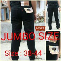 Celana Jeans Pria Jumbo Size Hitam/Black Levis-Wrangler - Ea7d3b