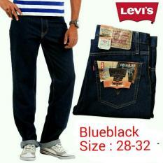 Celana Jeans Pria Regular Blueblack Levis-Lois-Wrangler - 5333A7