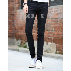 CELANA JEANS PRIA SKINNY FIT BLACK (Hitam) PREMIUM QUALITY from MR. X