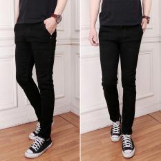 celana jeans pria slimfit/skiny/ngaret/pensil hitam (black)