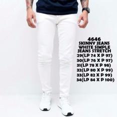 TMDK Fashion - Celana Jeans Putih Pria Bahan Softjeans Kwalitas Distro