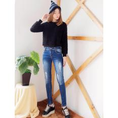 Toko Celana Jeans Ripped Ace Hijab Dark Blue Lengkap Dki Jakarta