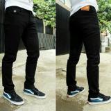 Beli Celana Jeans Skiny Fit Pria Hitam Black Cicilan