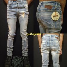 Jual Beli Celana Jeans Slim Fit Sinny Biru Whasing Terbaru Di Indonesia