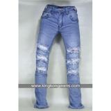 Jual Celana Jeans Sobek Pria Ripped Jeans Skinny Robek Skinny Ripped Kingkong Asli