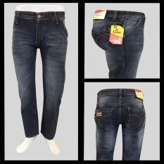 Harga Hemat Celana Jeans Standar Pria Model Reguler Tidak Melar Berbahan Jeans Resleting Kuat