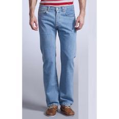 Beli Celana Jeans Standar Reguler Pria Biru Muda Di Jawa Barat
