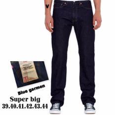 Spesifikasi Celana Jeans Standar Reguler Pria Super Big Sumper Jumbo Biru Tua Murah