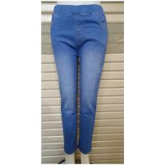 Diskon Celana Jeans Stretch Wanita Pinggang Karet Celana