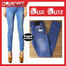 Beli Celana Jeans Wanita Biru Blitz Kredit Indonesia