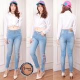 Harga Celana Jeans Wanita Bunga Bunga Celana Jeans Cewek Terbaik