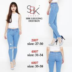 Beli Celana Jeans Wanita Fashionable Sbk 6007 Legging Destroy Kredit