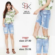 Celana Jeans Wanita  Hasanah Fashion DF SBK  SBK 77007 3per4