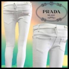 Spesifikasi Celana Jeans Wanita Putih Fashion